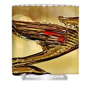 1938 Cadillac V-16 Sedan Hood Ornament 2 Shower Curtain