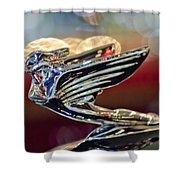 1938 Cadillac V-16 Sedan Hood Ornament Shower Curtain