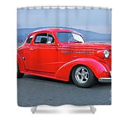 1938 Chevrolet 'all Business. Coupe Shower Curtain
