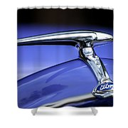1938 Ford Coupe Hood Ornament Shower Curtain