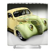1938 Hot Rod Ford Coupe Shower Curtain