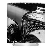 1938 Jaguar Ss100 3.5-liter Roadster Grille Shower Curtain