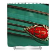 1938 Lincoln Zephyr Convertible Sedan Emblem Shower Curtain