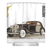 1938 Rolls Royce Phantom I I I Sedanca Deville Shower Curtain