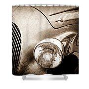 1938 Talbot-lago 150c Ss Figoni And Falaschi Cabriolet Headlight - Emblem -1554s Shower Curtain