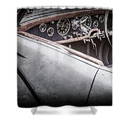 1938 Talbot-lago 150c Ss Figoni And Falaschi Cabriolet Steering Wheel -1561ac Shower Curtain