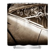 1938 Talbot-lago 150c Ss Figoni And Falaschi Cabriolet Steering Wheel -1561s Shower Curtain
