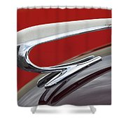 1938 Willys Aftermarket Hood Ornament Shower Curtain