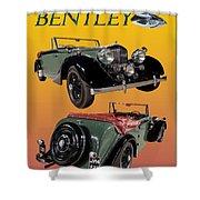 1939 Bentley Drop Head Coupe Shower Curtain