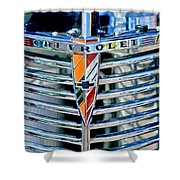 1939 Chevrolet Coupe Grille Emblem Shower Curtain