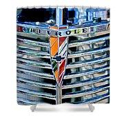 1939 Chevrolet Coupe Grille Emblem Shower Curtain