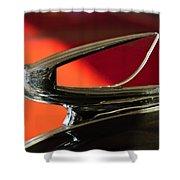 1939 Chevrolet Hood Ornament 2 Shower Curtain