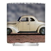 1939 Chevrolet White Coupe Shower Curtain