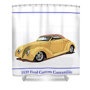 1939 Ford Custom Street-rod Convert Shower Curtain