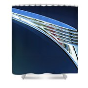 1939 Ford Deluxe Hood Ornament Shower Curtain