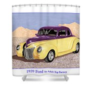 1939 Ford Deluxe Street Rod Shower Curtain