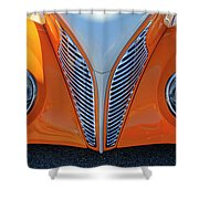 1939 Ford Hot Rod Cvt Grille Shower Curtain