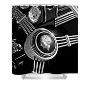 1939 Ford Standard Woody Steering Wheel 2 Shower Curtain