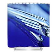 1939 Pontiac Coupe Hood Ornament 4 Shower Curtain by Jill Reger