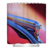 1940 Buick Century Hood Ornament Shower Curtain