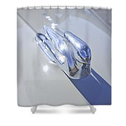 1940 Cadillac Hood Ornament Shower Curtain