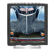 1940 Chevy Roadster Grill Shower Curtain