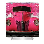 1940 Classic Hot Pink Ford Shower Curtain
