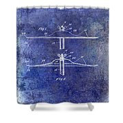 1940 Cymbal Patent Blue Shower Curtain