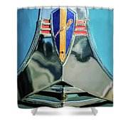 1940 Dodge Business Coupe Emblem Shower Curtain