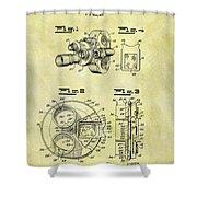 1940 Film Camera Patent Shower Curtain