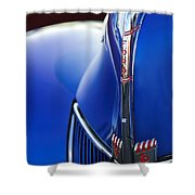 1940 Ford V8 Hood Ornament 3 Shower Curtain
