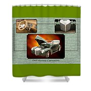 1940 Mercury Convertible Vintage Classic Car Painting 5238.02 Shower Curtain