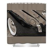 1940 Mercury Convertible Vintage Classic Car Photograph 5218.01 Shower Curtain