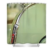 1940 Oldsmobile Hood Ornament 2 Shower Curtain