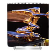 1940 Packard Hood Ornament Shower Curtain