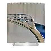 1940 Plymouth Hood Ornament 3 Shower Curtain