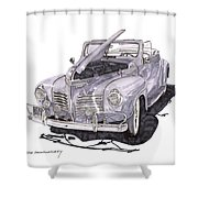 1940 Plymouth P 1 Convertible Shower Curtain