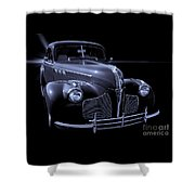 1940 Torpedo Coupe B/w Shower Curtain