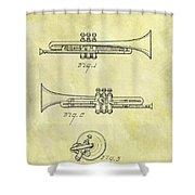 1940 Trumpet Patent Shower Curtain