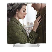 1940s Lovers Shower Curtain