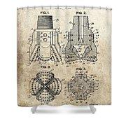 1940s Oil Drill Bit Patent Shower Curtain