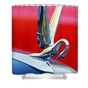 1940's Packard Cormorant Hood Ornament Shower Curtain