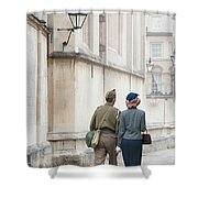 1940s Wartime Couple Shower Curtain