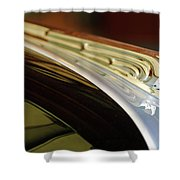 1941 Buick Eight Hood Ornament Shower Curtain by Jill Reger
