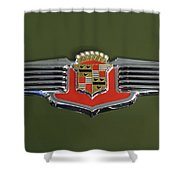 1941 Cadillac 62 Emblem Shower Curtain