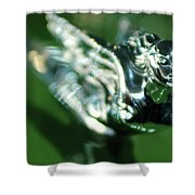 1941 Cadillac Convertible Sedan Hood Ornament Shower Curtain