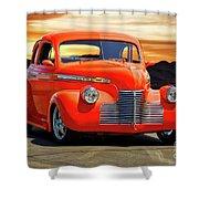 1941 Chevrolet Coupe 'reno Sunrise' Shower Curtain