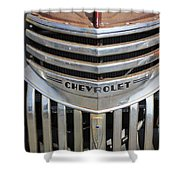 1941 Chevy - Chevrolet Pickup Grille Shower Curtain