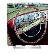 1941 Chrysler Newport Dual Cowl Phaeton Steering Wheel Shower Curtain