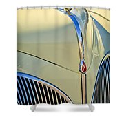 1941 Lincoln Continental Cabriolet V12 Grille Shower Curtain